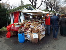 Christmas market in Bucharest, Romania. Stock Photography