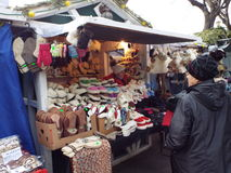 Christmas market in Bucharest, Romania. Royalty Free Stock Images