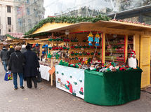 Christmas market in Budapest. Traditional Christmas market in Budapest, Hungary Royalty Free Stock Images