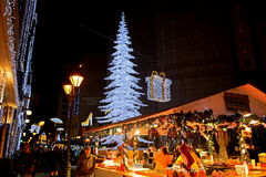 Christmas market, Budapest, Hungary Stock Photo