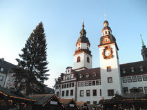 The Christmas market in Chemnitz in Saxony Royalty Free Stock Images