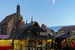 Christmas Market in Nuernberg, Germany royalty free stock photos