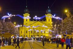 Christmas market in Debrecen, Hungary Royalty Free Stock Photography