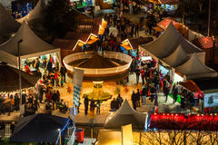Christmas Market, detail. Christmas market in Galway, detail, view from high point Royalty Free Stock Photo