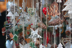 Christmas market details royalty free stock photography