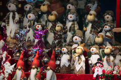 Christmas market details stock photography