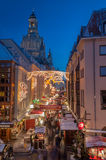 Christmas Market in Dresden stock photography