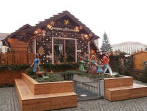 Christmas Market in Dresden on Altmarkt Square, Germany, 2013 Stock Photos