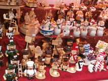 Christmas Market in Dresden on Altmarkt Square, Germany, 2013 Royalty Free Stock Image