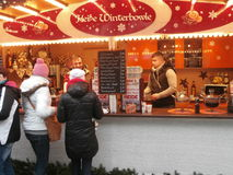Christmas Market in Dresden on Altmarkt Square, Germany, 2013 Royalty Free Stock Photos