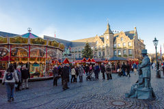 Christmas market. In Dusseldorf, Germany royalty free stock image