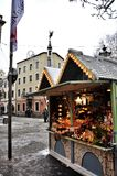 Christmas market in Dusseldorf Royalty Free Stock Image