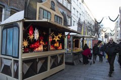 Christmas market Dusseldorf Stock Photography