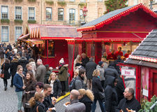 Christmas market in Dusseldorf, Germany stock photos