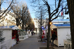 Christmas Market France Stock Photo