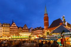 Christmas market in Frankfurt Stock Photos