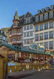 Christmas market, Frankfurt. Christmas market on Romerberg square, Frankfurt, Germany Royalty Free Stock Photo