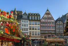 Christmas market, Frankfurt. Christmas market on Romerberg square, Frankfurt, Germany Stock Images