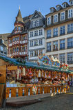 Christmas market, Frankfurt. Christmas market on Romerberg square, Frankfurt, Germany Royalty Free Stock Photos