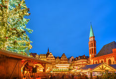 Christmas market in Frankfurt. Traditional christmas market in Frankfurt, Germany Royalty Free Stock Photo