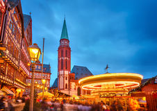 Christmas market in Frankfurt Stock Image