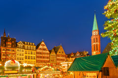 Christmas market in Frankfurt Royalty Free Stock Photography
