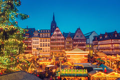 Christmas market in Frankfurt. Traditional christmas market in Frankfurt, Germany Royalty Free Stock Photography