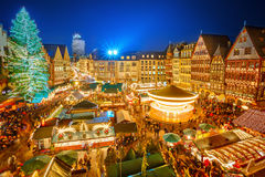 Christmas market in Frankfurt. Traditional christmas market in the historic center of Frankfurt, Germany stock image