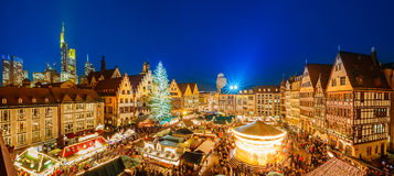 Christmas market in Frankfurt. Traditional christmas market in the historic center of Frankfurt, Germany royalty free stock photography
