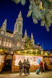 Christmas market in front of the City Hall Rathaus Royalty Free Stock Images