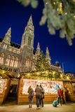 Christmas market in front of the City Hall Rathaus, Austria Stock Photos