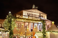 Christmas market in Gendarmenmarkt, Berlin Royalty Free Stock Image