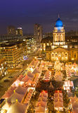 Christmas market on gendarmenmarkt berlin germany Royalty Free Stock Photos
