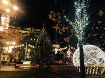 Christmas Market at George Square Glasgow Scotland Royalty Free Stock Image