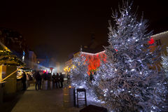 Christmas Market on Gradec square in Zagreb stock photography