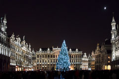 Christmas market at Grand Place, Brussels, Begium Stock Images