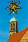 Christmas Market -hanging decoration- Nuremberg-Germany stock image