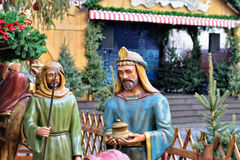 Christmas market in historical center of Leipzig Royalty Free Stock Photo