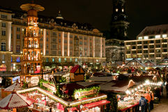 Christmas Market In Dresden Royalty Free Stock Images