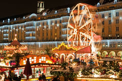Christmas Market In Dresden Stock Photo