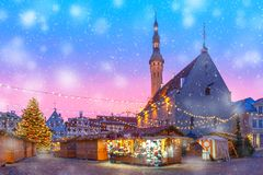 Free Christmas Market In Tallinn, Estonia Royalty Free Stock Image - 109086896