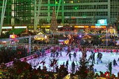 Free Christmas Market In The Munich Airport, Germany Stock Images - 164105194