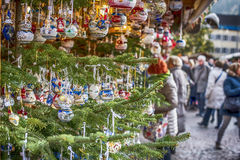 Christmas market in Italy stock image