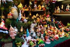 Christmas market kiosk details stock images