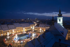 Christmas market lights Royalty Free Stock Photo