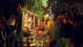Christmas Market in Lindau on Lake Constance. Bavaria, Germany, Europe stock video