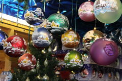 Christmas Market in Luxembourg. Luxembourg Stock Photo
