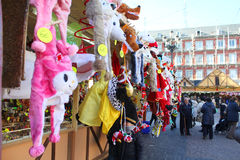Christmas market in Madrid Stock Image