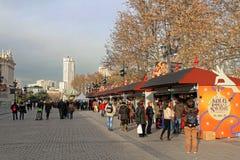 Christmas market in Madrid Stock Photo