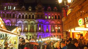 Christmas Market, Manchester, England Royalty Free Stock Images